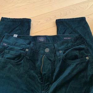Citizens of Humanity Green Velvet Slim fit jeans